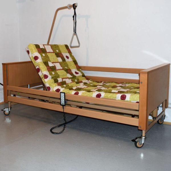 Łóżko rehabilitacyjne Burmeier Arminia i materac gofrowany 12 cm